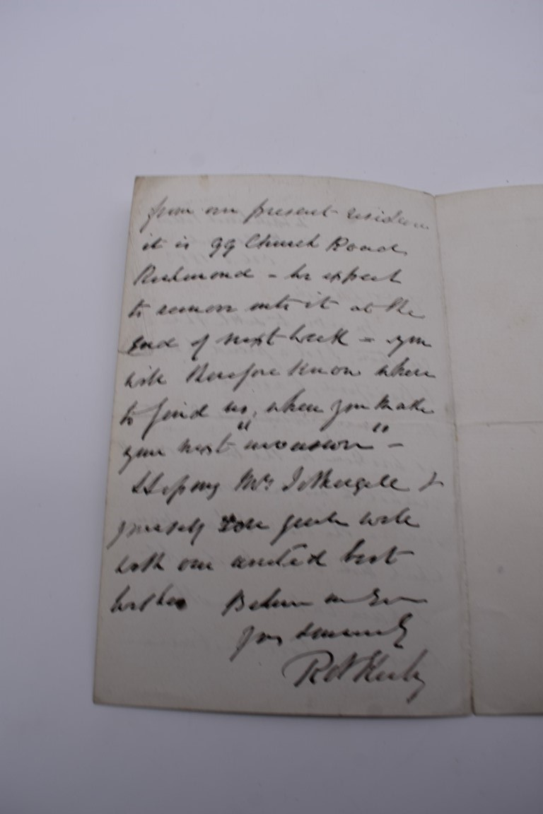 MANUSCRIPT MISCELLANY:a group of approx 27 items, largely 19thc ALS from nobility, churchmen, - Image 13 of 42