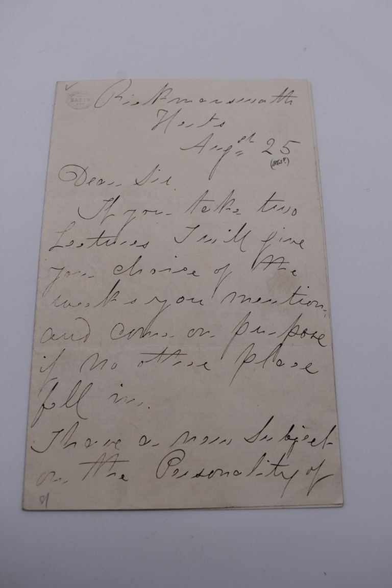 MANUSCRIPT MISCELLANY:a group of approx 27 items, largely 19thc ALS from nobility, churchmen, - Image 32 of 42