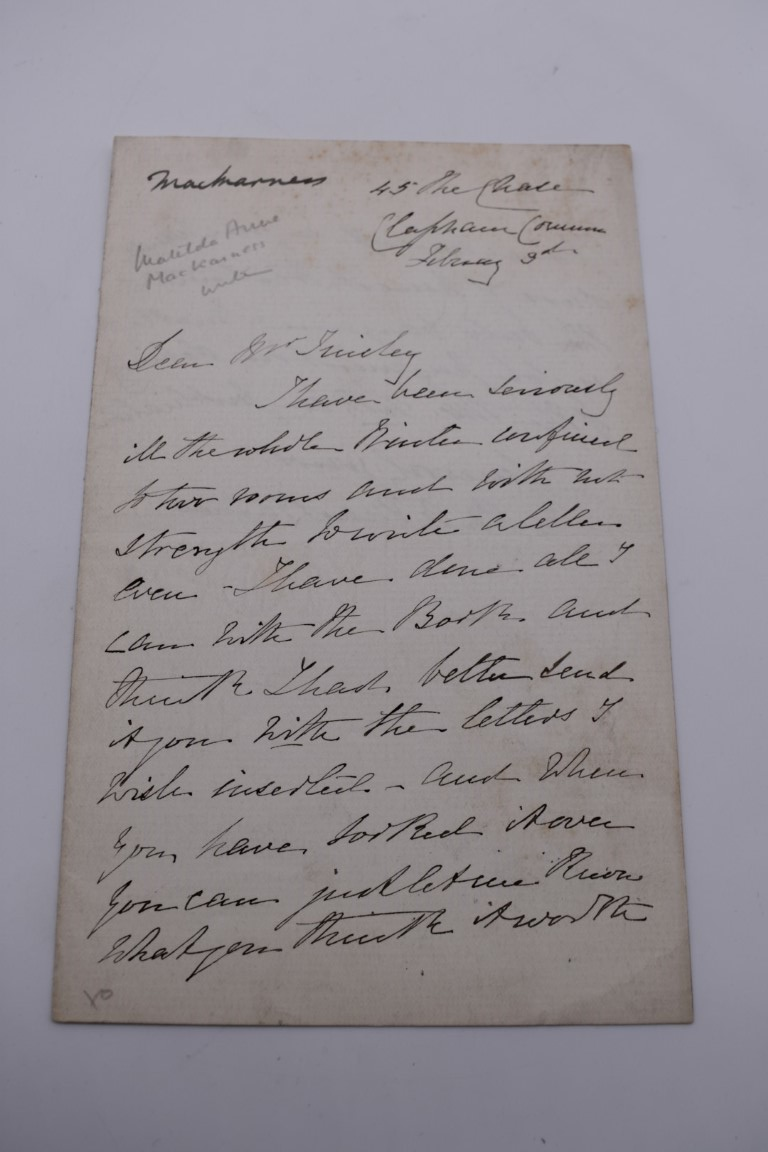 MANUSCRIPT MISCELLANY:a group of approx 27 items, largely 19thc ALS from nobility, churchmen, - Image 30 of 42