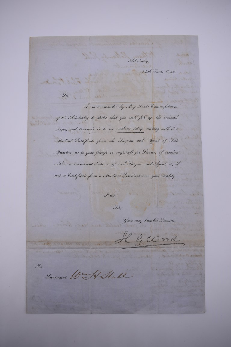 NAVAL AND MILITARY DOCUMENTS:group of 8 manuscript documents, to include printed form with - Image 18 of 21