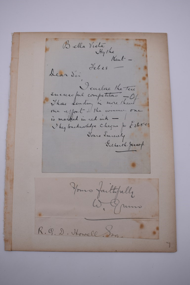 LETTERS:a collection of 20 items, largely letters late 19th-earlier 20thc, to include short one - Image 25 of 26