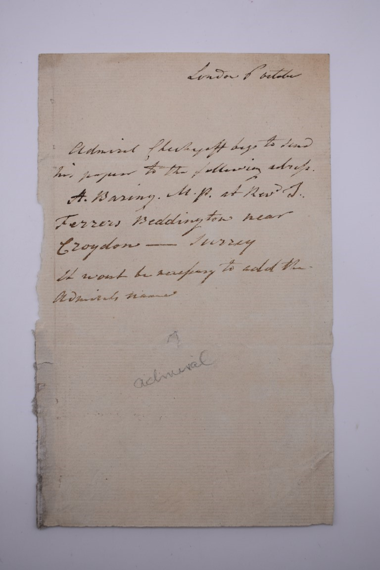 LETTERS & SIGNATURES:a quantity in bundle, largely 19th century nobility and political. (Small - Image 29 of 37