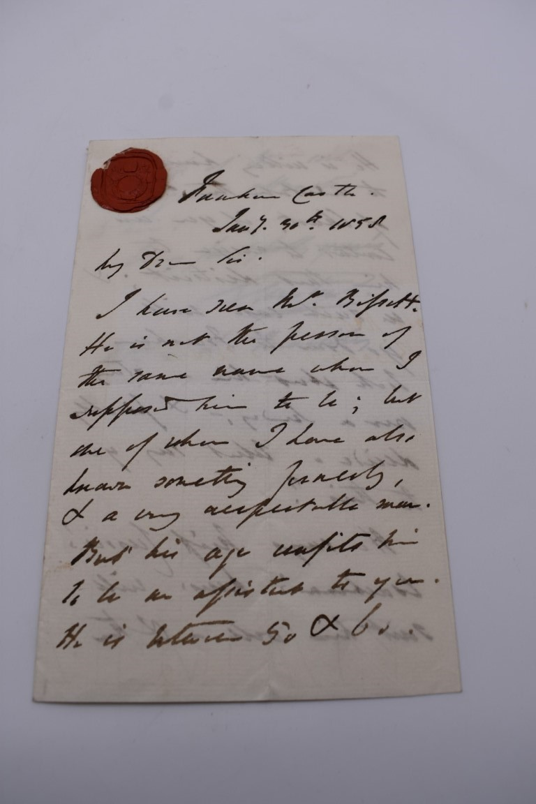 LETTERS, SIGNATURES, MANUSCRIPT MISCELLANY: a collection of over 45 items, largely 19th and early - Image 2 of 83