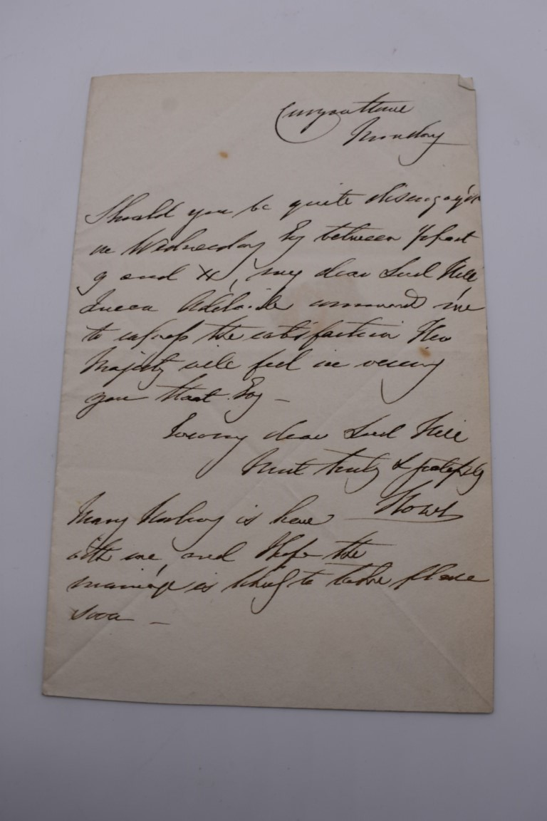 MANUSCRIPT MISCELLANY:a group of approx 27 items, largely 19thc ALS from nobility, churchmen, - Image 26 of 42