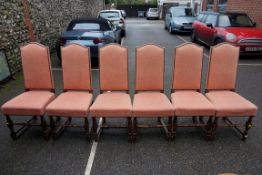 A set of six beech dining chairs.Payment must be made in advance of collection which is strictly