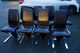 A set of eight Fu-Nicha 'Z' chairs, 96cm high.Payment must be made in advance of collection which is