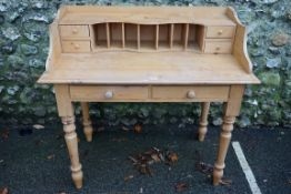 An old pine dressing table, 102cm wide x 55cm deep x 95cm high.Payment must be made in advance of