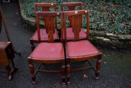 A set of four oak dining chairs.Payment must be made in advance of collection which is strictly by