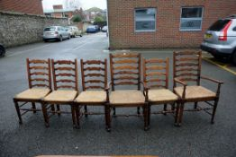 A set of six oak ladderback chairs.Payment must be made in advance of collection which is strictly