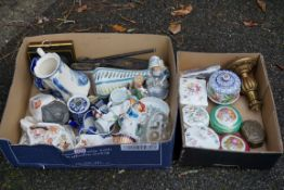 A sundry lot of china and glassware.Payment must be made in advance of collection which is