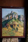 A South African oil by Matthew C..., 49.5cm x 39cm.Payment must be made in advance of collection