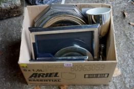A quantity of plated trays, mirrors and trophy cups.Payment must be made in advance of collection