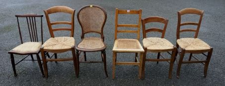 A quantity of rush seated chairs and one other chair.Payment must be made in advance of collection