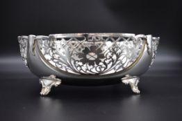 A pierced silver fruit bowl, by Sterling Silverware Ltd, Sheffield 1977 Jubilee mark, 22cm diameter,