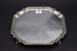 A silver salver, by Barker Ellis Silver Co, Birmingham 1971, 25.5cm diameter, 648.5g.