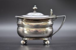 A George III silver mustard pot, by Rebecca Emes & Edward Barnard I, London 1810, total height 8.
