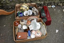 Two boxes of mixed china and glassware.Collection of this lot is strictly by appointment on Saturday