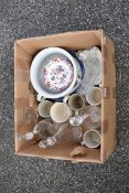 A quantity of china and glassware.Collection of this lot is strictly by appointment on Saturday 17th