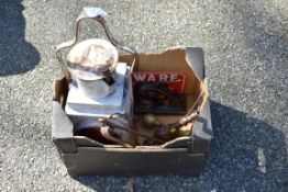 An old railway lantern and sundry.Collection of this lot is strictly by appointment on Saturday 17th