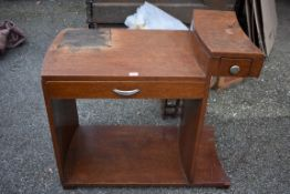 An Art Deco desk, 76cm high x 82cm wide x 43cm deep.Collection of this lot is strictly by