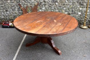 A French style circular pedestal table, by Lombok.