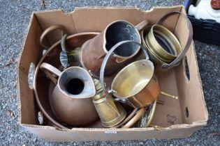 A quantity of metalware.