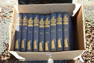 Nine volumes of Punch.