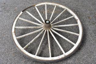 An old cartwheel.