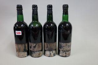 Four bottles of Croft 1960 vintage port, (3bn/1ms). (4)