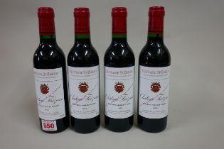 Four 37.5cl bottles of Chateau Faizeau Vieilles Vignes, 1995, Montagne Ste Emilion, (in) (4)