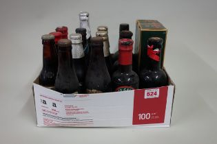 Sixteen old bottles of ale and similar, to include royal commemorative examples, to in card