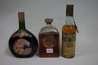 A bottle of Gonzalez Byass Le Panto brandy, 1960/70s bottling; together with a bottle of Samulens