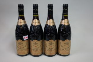 Four 75cl bottles of Chateauneuf du Pape Cuvee Reserve,1986, Domaine Pere Caboche. (4)