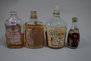 A half bottle of John Dewar white label, 1970s; together with a half bottle of Whyte and Mackays,