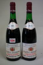 Two 75cl bottles of St Joseph Le Grand Pompee,1985, Paul Jaboulet Aine. (2)