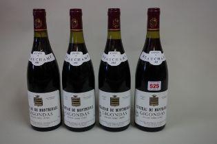 Four 75cl bottles of Gigondas Cuvee Beauchamp,1985, Chateau Montmirail. (4)