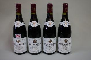 Four 75cl bottles of Vacqueyras Cuvee l'Ermite,1986, Chateau Montmirail. (4)