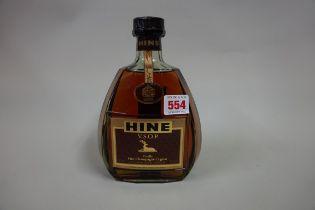 A 68cl bottle of Hine VSOP cognac, probably 1980s bottling.
