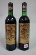 Two 75cl bottles of Chateau de la Riviere, Fronsac, 1988. (2)