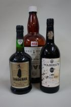 A Haig 'Gold Label' 4 pint bottle, (no contents); together with a 75cl bottle of Warre's 1975