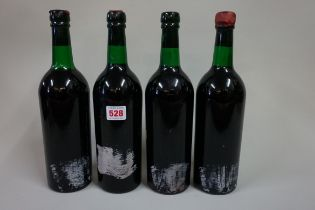 Four bottles of vintage port, 1970, believed to be Dow's 1970,(3in/1vts). (4)