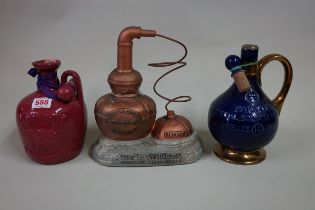 A bottle of Evan Williams 'Kentucky Straight Bourbon Whisky', in novelty pottery cistern decanter (