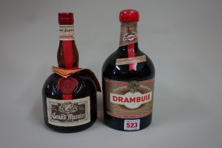 Two bottles of Liqueur, comprising: a 1 litre Drambuie; and a 70cl Grand Marnier. (2)