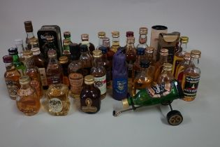 Forty one old 5cl whisky miniatures, single malt and blended, (some low levels); together with a