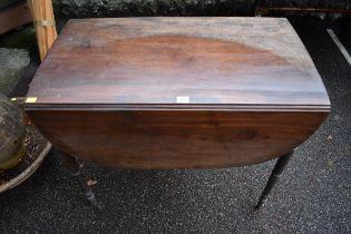 (LC) A 19th century mahogany pembroke table,84cm wide x 48cm deep x 69cm high.