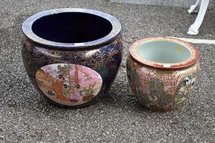 (LC) Two oriental ceramic jardinieres.