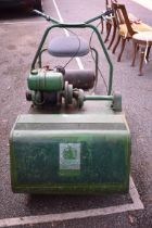 (LC) An old Ransomes '24' cylinder lawnmower.