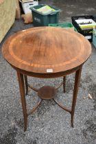 (LC) An Edwardian circular occasional table.