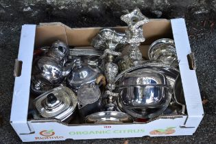 A quantity of silverplate.