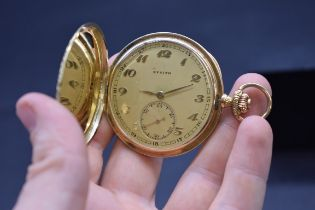 A Zenith 14k 'Grand Prix Paris 1900' stem wind hunter pocket watch, 48mm.